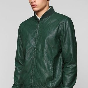 Charles and A Half x UO   Vegan Leather Jacket